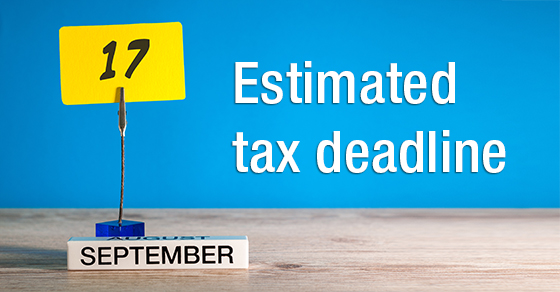 Estimated Tax Deadline