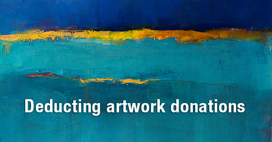 deducting artwork donations tax deductions