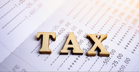 TAX on image of tax return