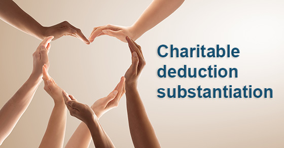 Charitable Donations Substantiation